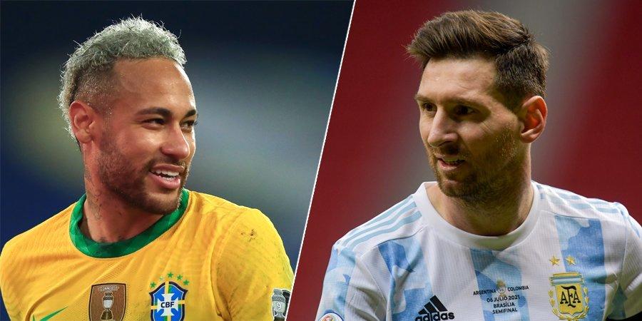 Оглашены стартовые составы на матч финала Кубка Америки Аргентина — Бразилия