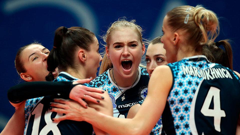 Казанское «Динамо» разгромило «Уралочку» в матче Лиги чемпионов