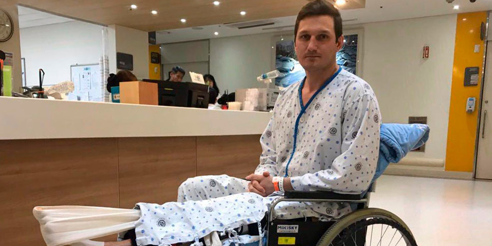 Россиянин, сломавший ногу на ОИ-2018, сам покрывает расходы на лечение