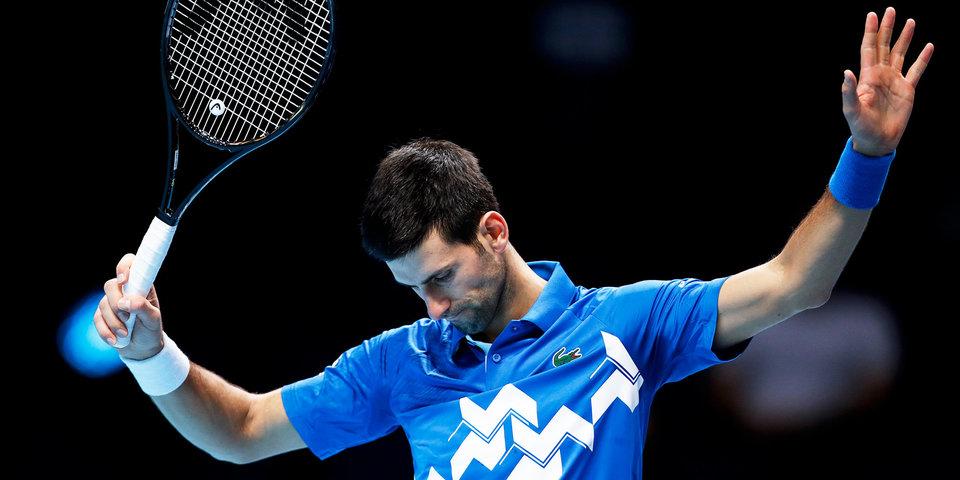 Джокович ударил ракеткой по боксу сборной Сербии после вылета с ATP Cup