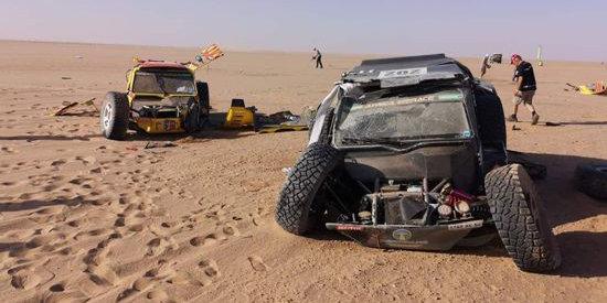 Экипаж Сергея Куприянова попал в аварию на «Africa Eco Race 2019»