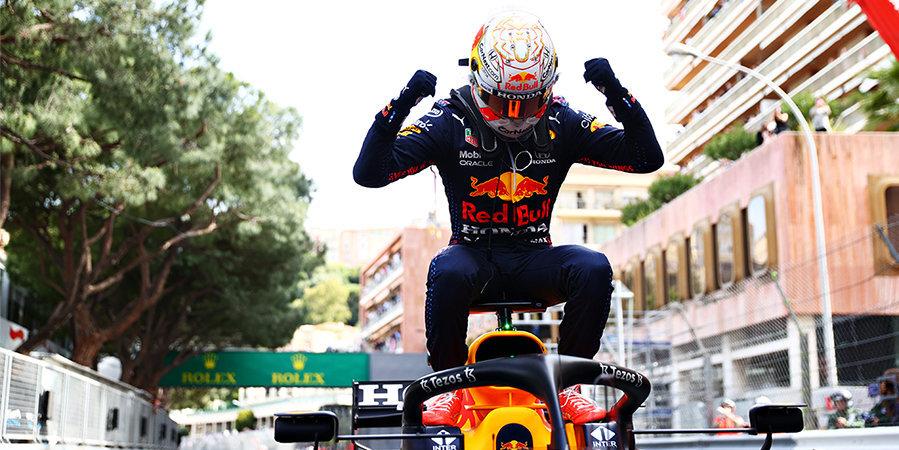 Ферстаппен впервые выиграл в Монако и возглавил чемпионат! У Сайнса - первый подиум за «Феррари», Леклер не вышел на старт (Видео)