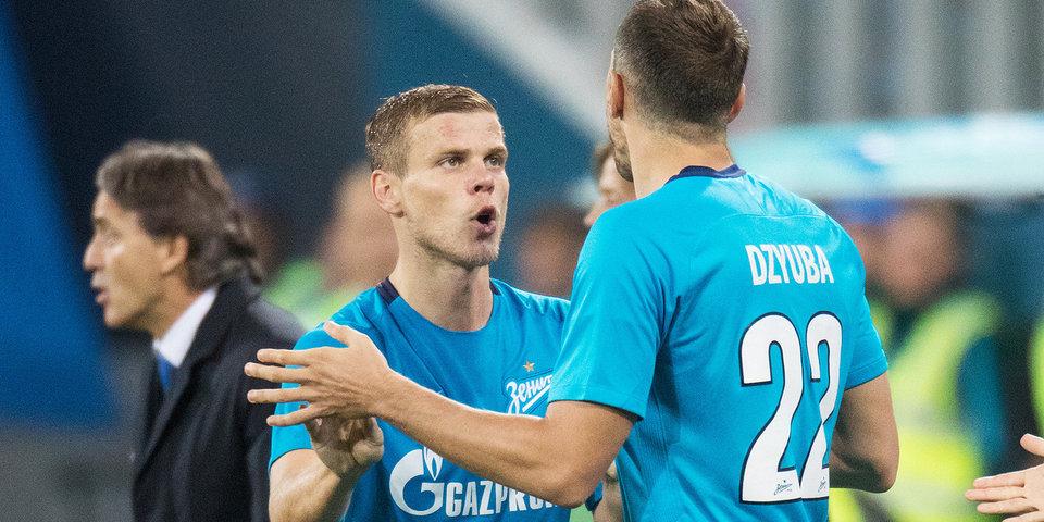 Дзюба и Кокорин – в основе «Зенита» на матч с «Анжи»