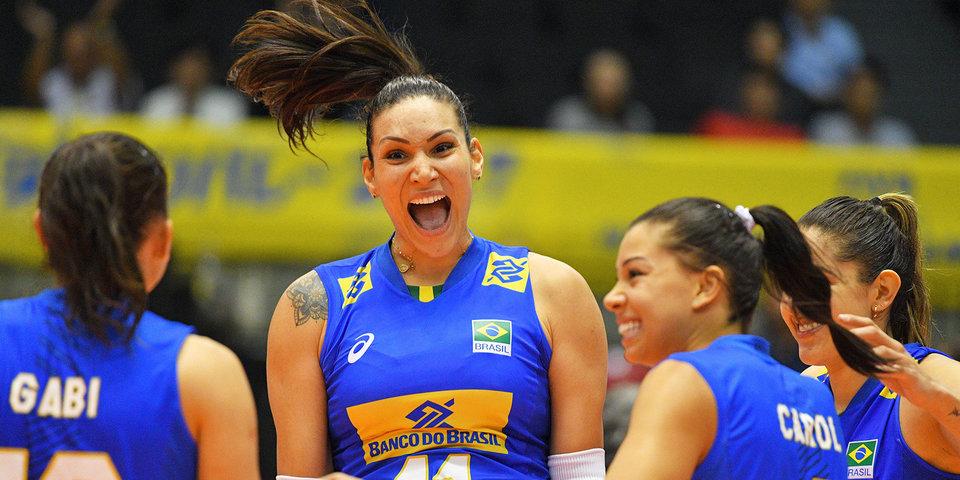 Бразильские волейболистки обыграли Японию в полуфинале Лиги наций