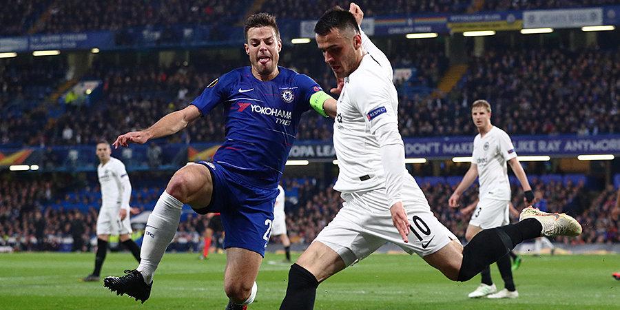 «Челси» победил «Айнтрахт» в ответном матче и вышел в финал Лиги Европы