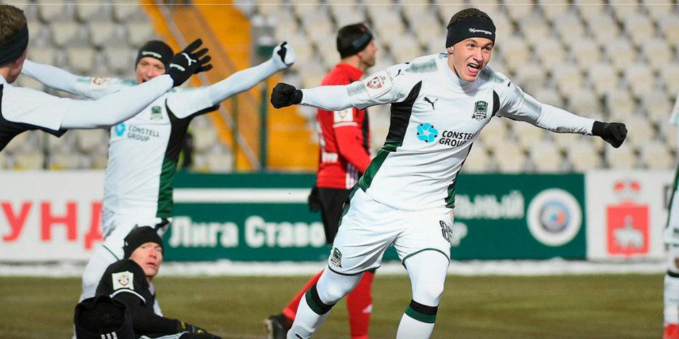 «Краснодар» обыграл «Амкар» и захватил лидерство в турнирной таблице