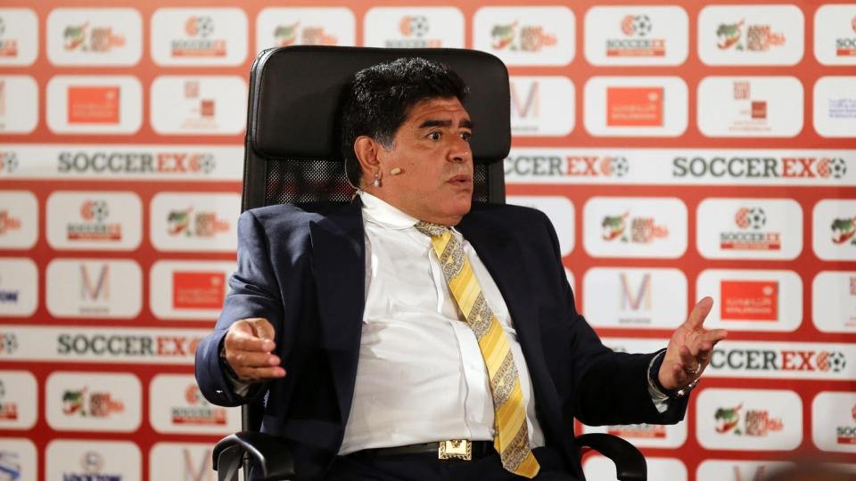 Марадона провел первую тренировку в «Эль-Фуджайре»