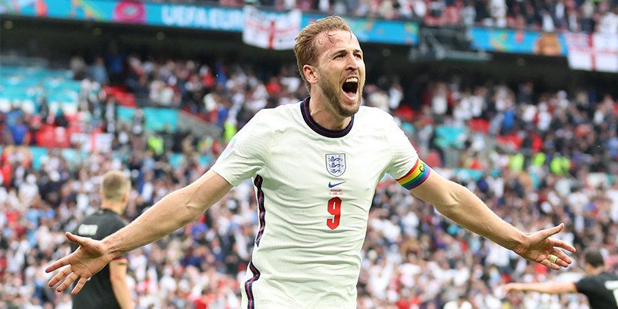Англия обыграла Германию на «Уэмбли» в 1/8 финала Евро