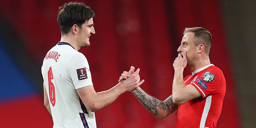 Польша снова проиграла Англии (0 побед за полвека). Кейн забил с точки, судья просмотрел руку Магуайра в штрафной (Видео)