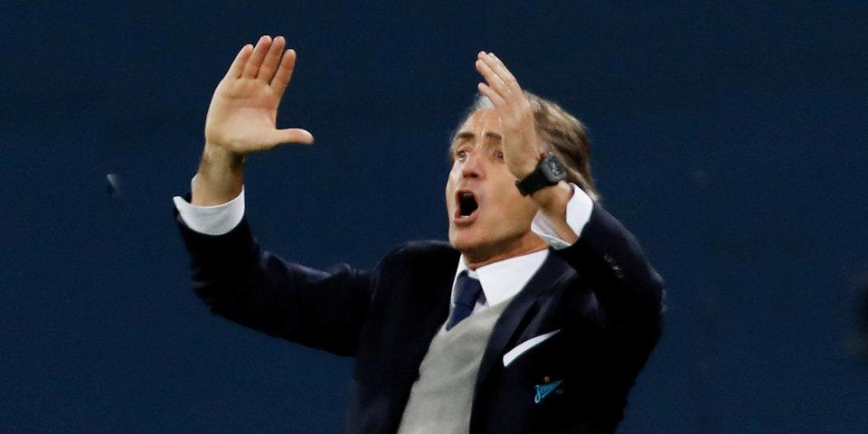 Роберто Манчини: «Во втором тайме за «Зенит» играли только четыре человека»
