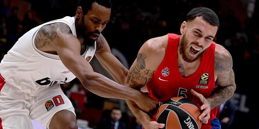 ЦСКА потерпел первое поражение в Евролиге, уступив «Олимпиакосу» в Москве