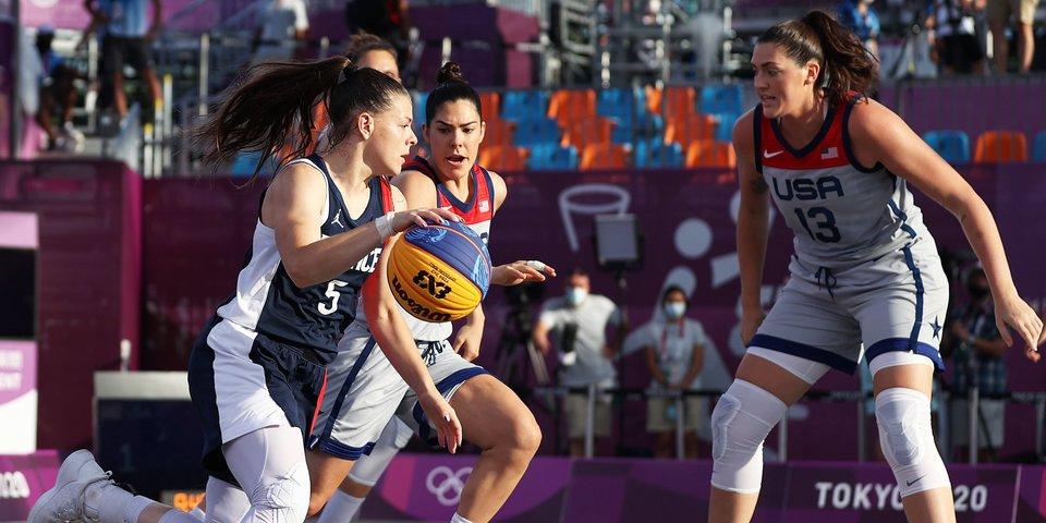 Американские баскетболистки 3х3 победили Францию и вышли в финал Олимпиады