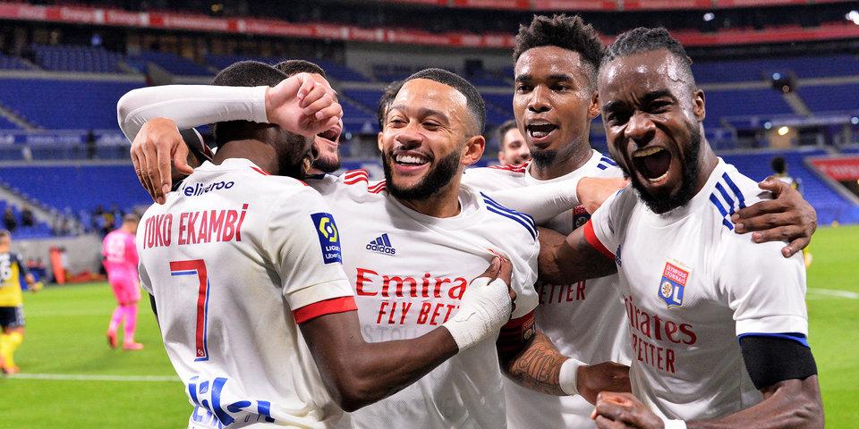 «Лион» вырвал победу в матче с «Монако» и сократил отставание от соперника до одного очка