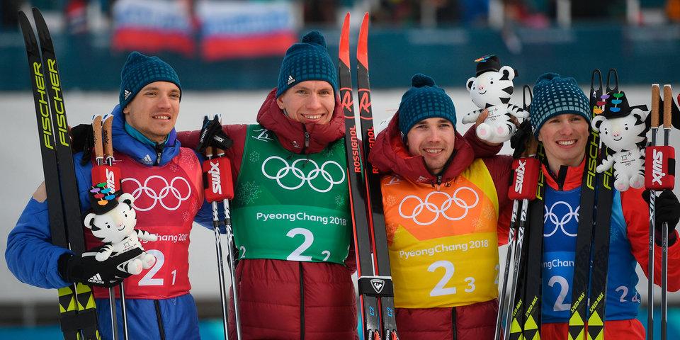 Российские лыжники стали вице-чемпионами Олимпиады в эстафете