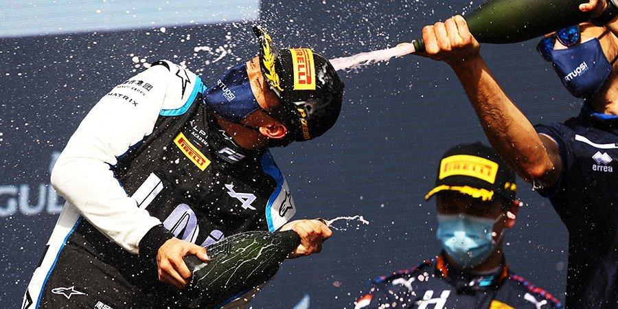 Чжоу одержал победу в первой гонке «Формулы-2» в Монако, Шварцман и Лундгард сошли