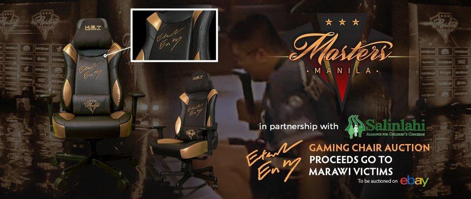 DOTA 2: Кресло EternaLEnVy с Manila Masters выставлено на благотворительный аукцион