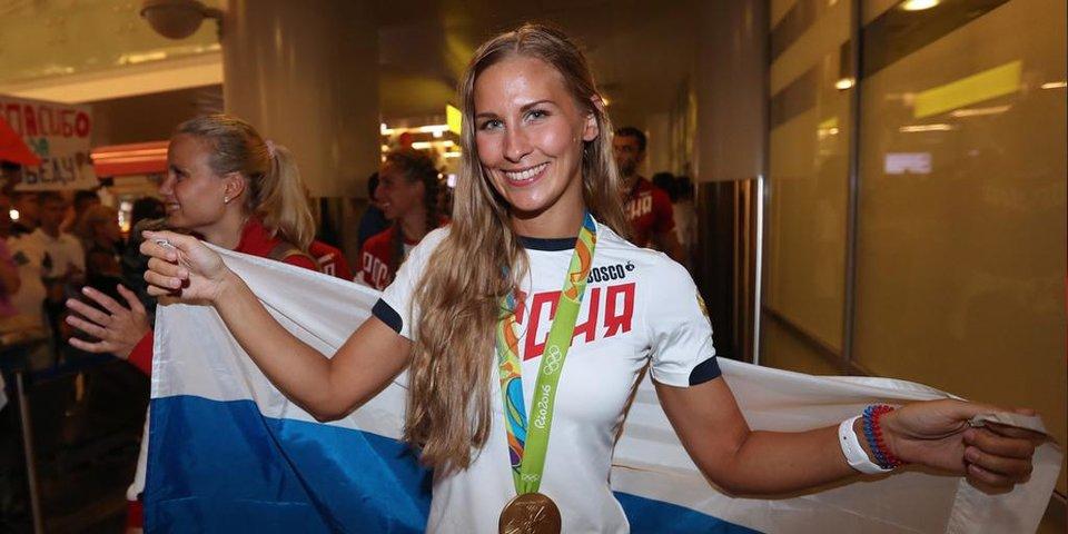 Как в Москве встречали олимпийскую сборную