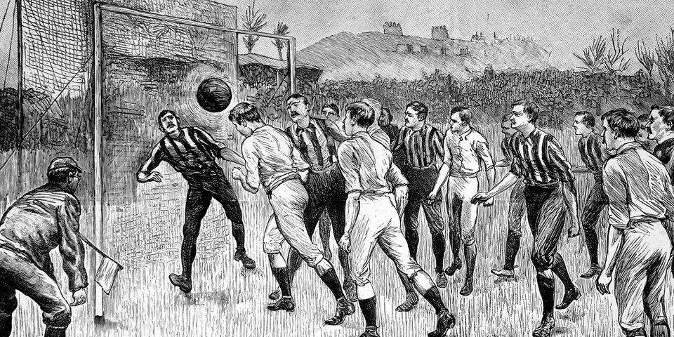 «Игрока, бегущего с мячом в руках, разрешается бить по ногам». 155 лет назад в адских муках родился Его Величество Футбол