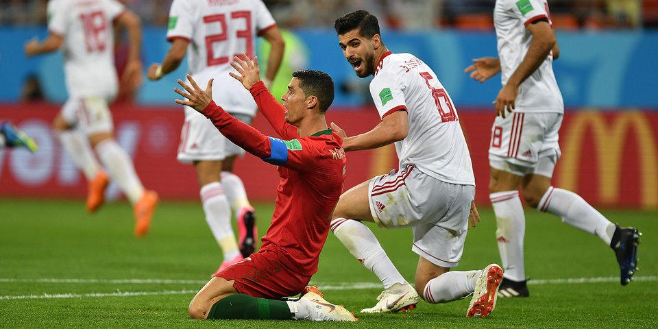 Португалия упускает победу в группе на последних минутах матча против Ирана. 1:1. Голы и лучшие моменты
