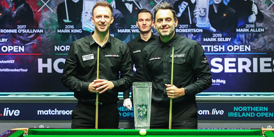Трамп выиграл у О'Салливана первую сессию финала Northern Ireland Open