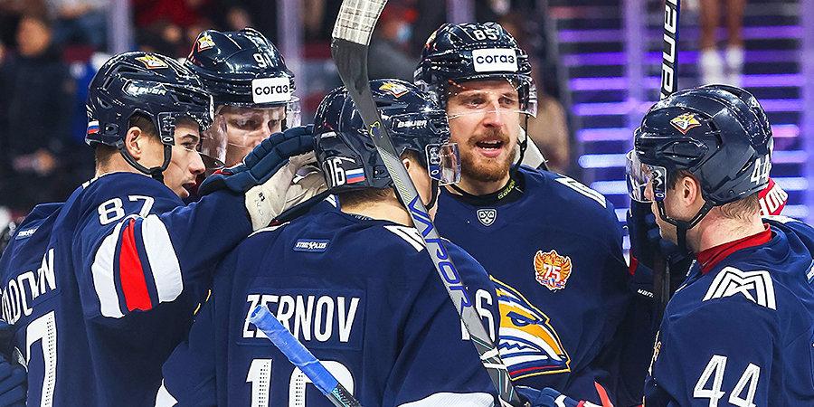 «Металлург» обыграл «Автомобилист» и одержал 9-ю победу подряд в КХЛ