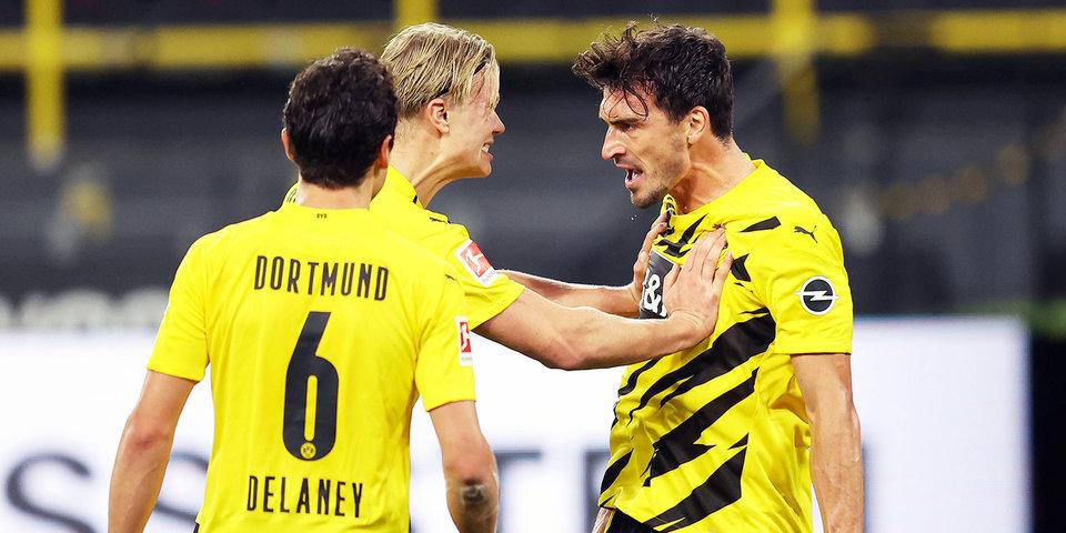 Дортмундская «Боруссия» сыграла вничью с «Айнтрахтом» перед матчем с «Зенитом»
