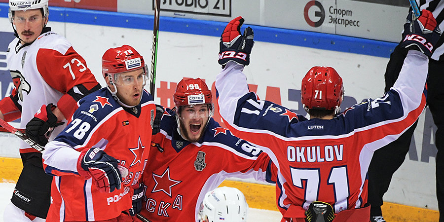 ЦСКА вновь победил «Авангард», забросив трижды в концовке. Видео голов здесь