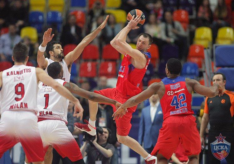 ЦСКА разгромил «Милан», прервав серию поражений в Евролиге