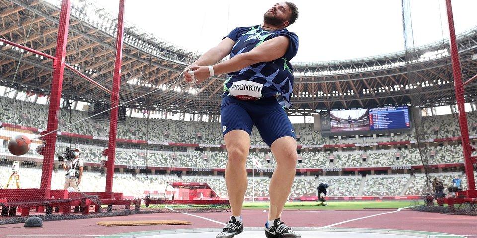 Пронкин стал восьмым в метании молота на Олимпиаде