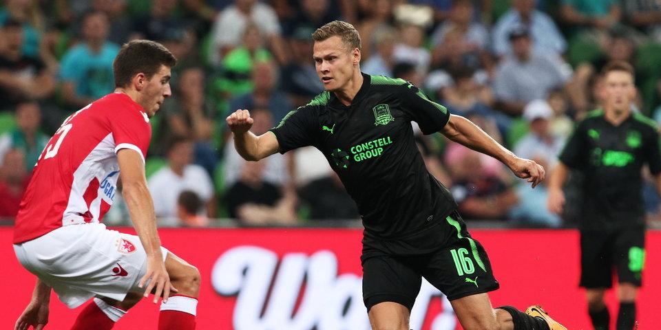 Грубая ошибка судей не помешала «Краснодару» обыграть «Црвену Звезду»: голы и лучшие моменты