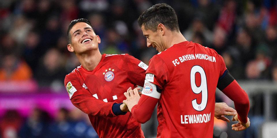 «Бавария» разгромила «Майнц» и вышла на первое место в бундеслиге