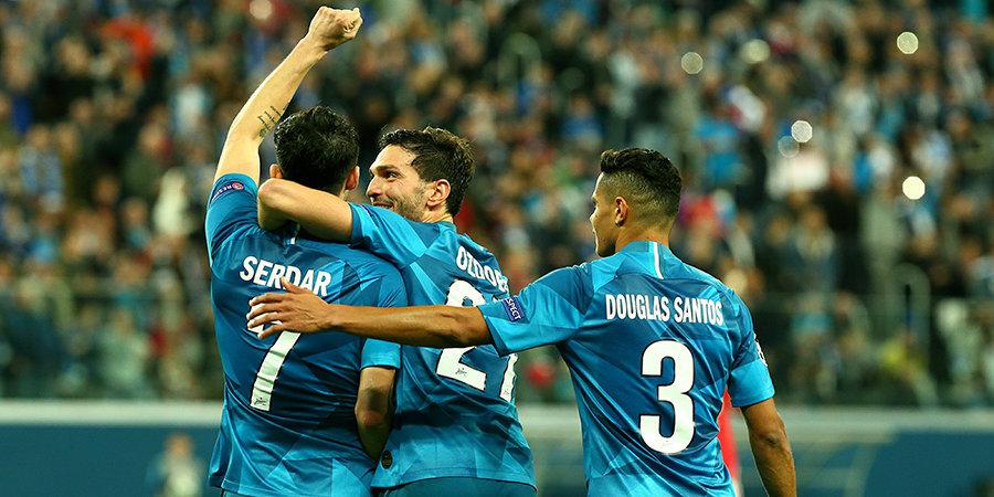 Лига чемпионов вернулась в Петербург! Фанаты устроили перфоманс на трибуне, «Зенит» — на поле