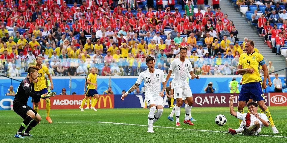 В матче сборных Швеции и Кореи зафиксировано рекордное количество фолов