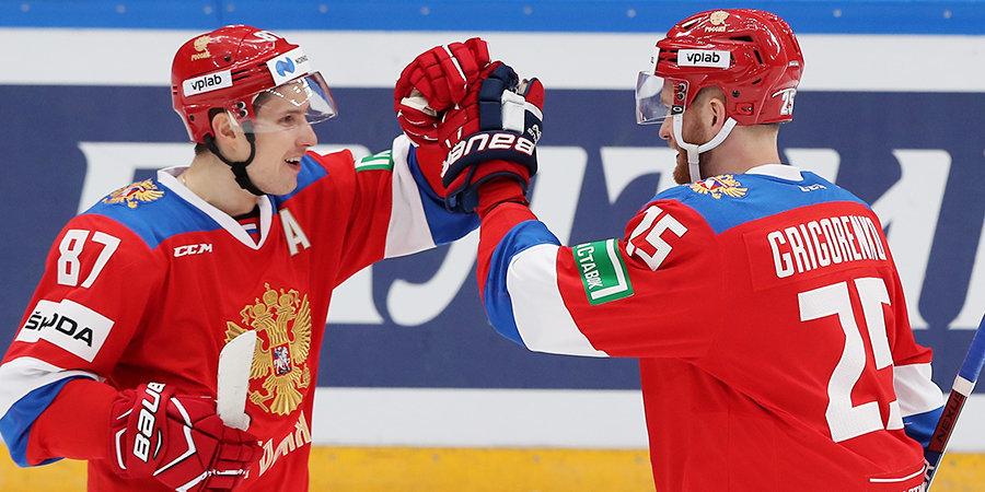 Сборная России переиграла чехов в драматичном матче.  Все решилось в серии буллитов