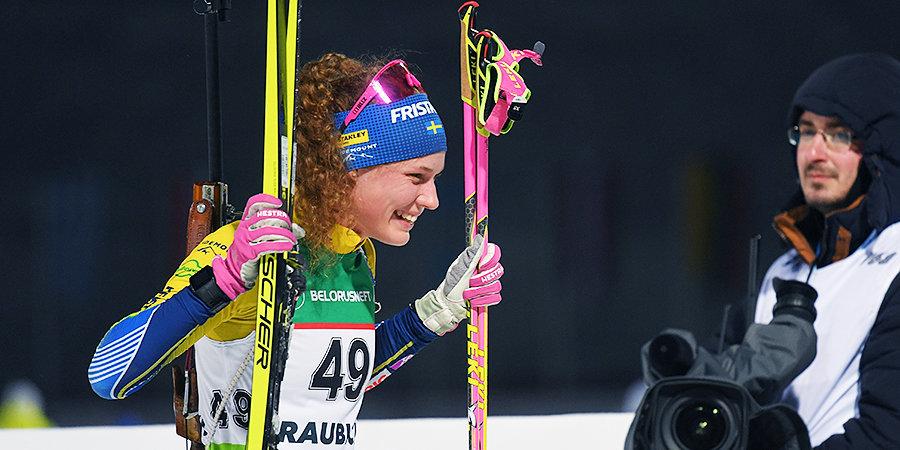 Эберг выиграла масс-старт на фестивале Blink, Юрлова-Перхт представила Россию на соревнованиях