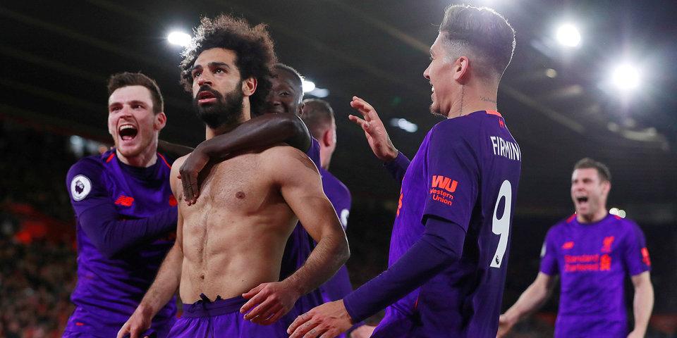 «Ливерпуль» взял три очка в Саутгемптоне и обогнал «Ман Сити». Голы и лучшие моменты
