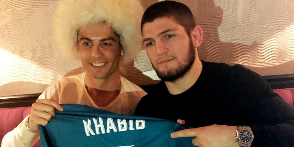 Хабиб подарил Роналду папаху и получил подарок в ответ