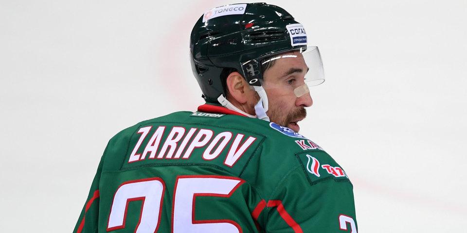 Зарипов стал вторым игроком в истории КХЛ, набравшим 600 очков