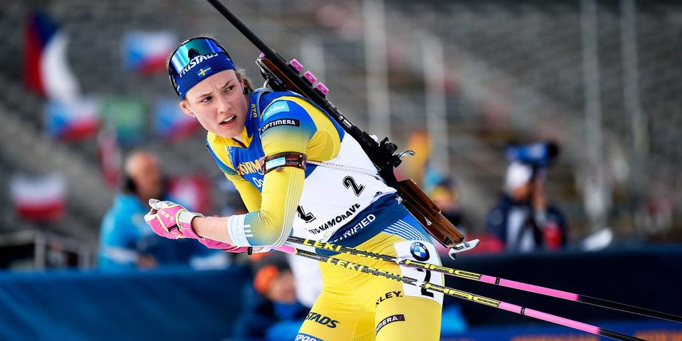 Сборная Швеции выиграла женскую эстафету на этапе КМ в Контиолахти, россиянки — четвертые