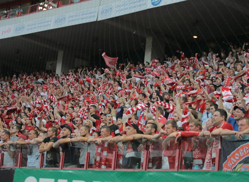 Болельщики «Спартака» устроили перфоманс на матче с «Вильярреалом»