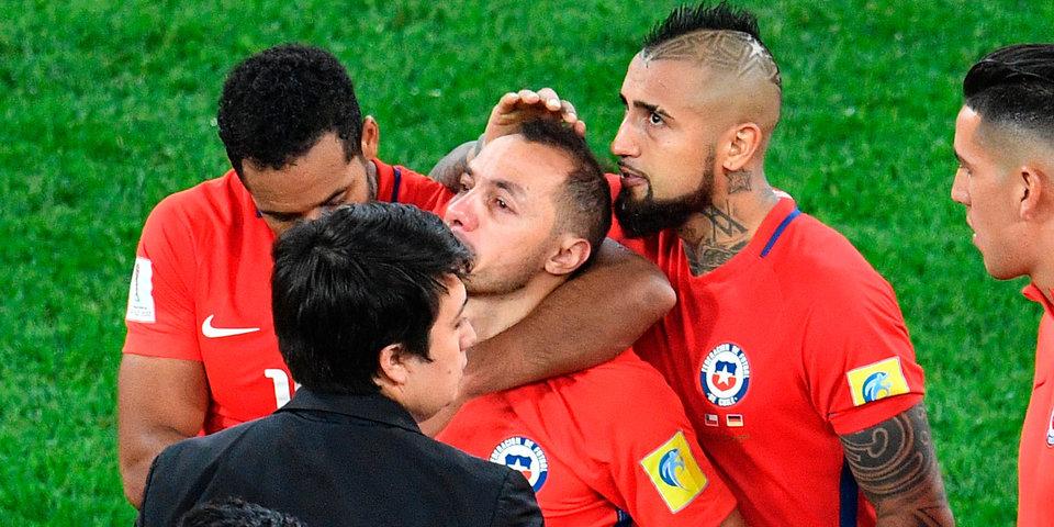 Чилиец Диас разрыдался в микст-зоне после финала Кубка конфедераций