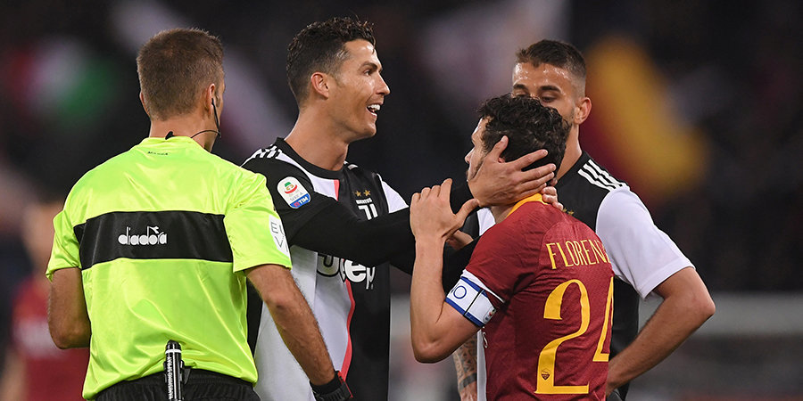 Роналду посмеялся над ростом капитана «Ромы». Тот в ответ забил победный гол в ворота «Ювентуса»