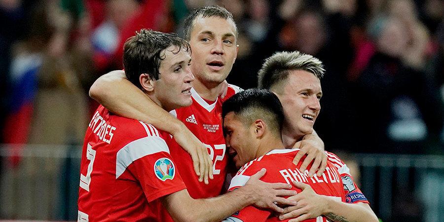УЕФА назвал ключевых игроков в сборной России
