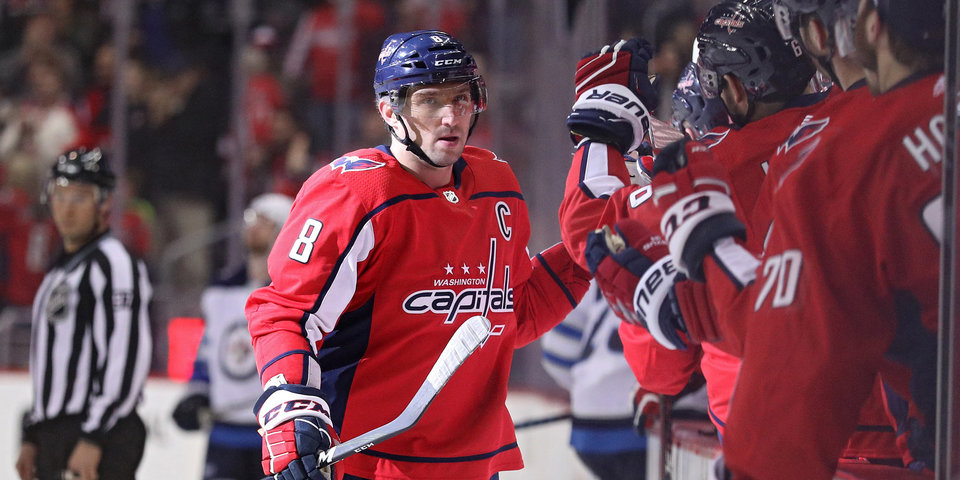 Наши в НХЛ. Дубль Овечкина принес «Вашингтону» победу в «битве пяти россиян»