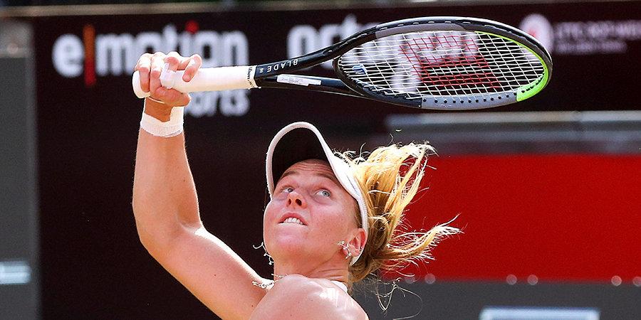 Самсонова обыграла первую сеянную Бенчич и вышла в полуфинал турнира в Люксембурге