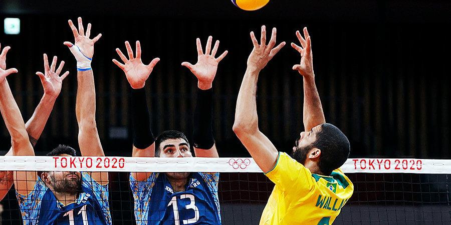 Бразильские волейболисты обыграли Аргентину перед встречей с Россией на Олимпиаде