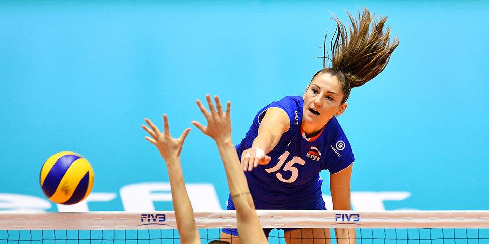Российские волейболистки начали чемпионат Европы с победы над Украиной