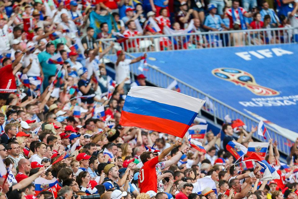 ФИФА оштрафовала РФС за дискриминационный баннер на матче сборной России