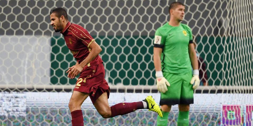 «Рубин» отправляет шесть мячей в ворота «Анжи»: голы и лучшие моменты
