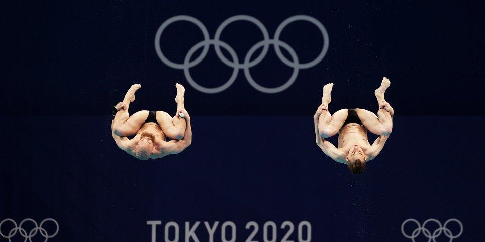 Кузнецов и Шлейхер стали восьмыми в синхронных прыжках с трехметрового трамплина на ОИ, не получив очков в решающем раунде